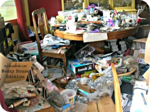 messy unorganized home